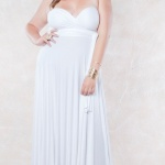 robe ete mariage longue grande taille blanche