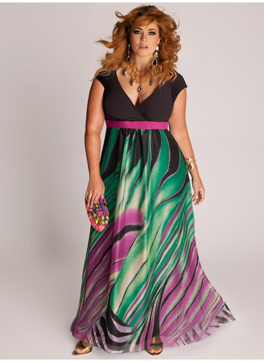 Robe chic et glamour grande taille