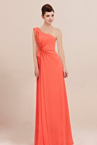 Robe de cocktail bretelle asymetrique