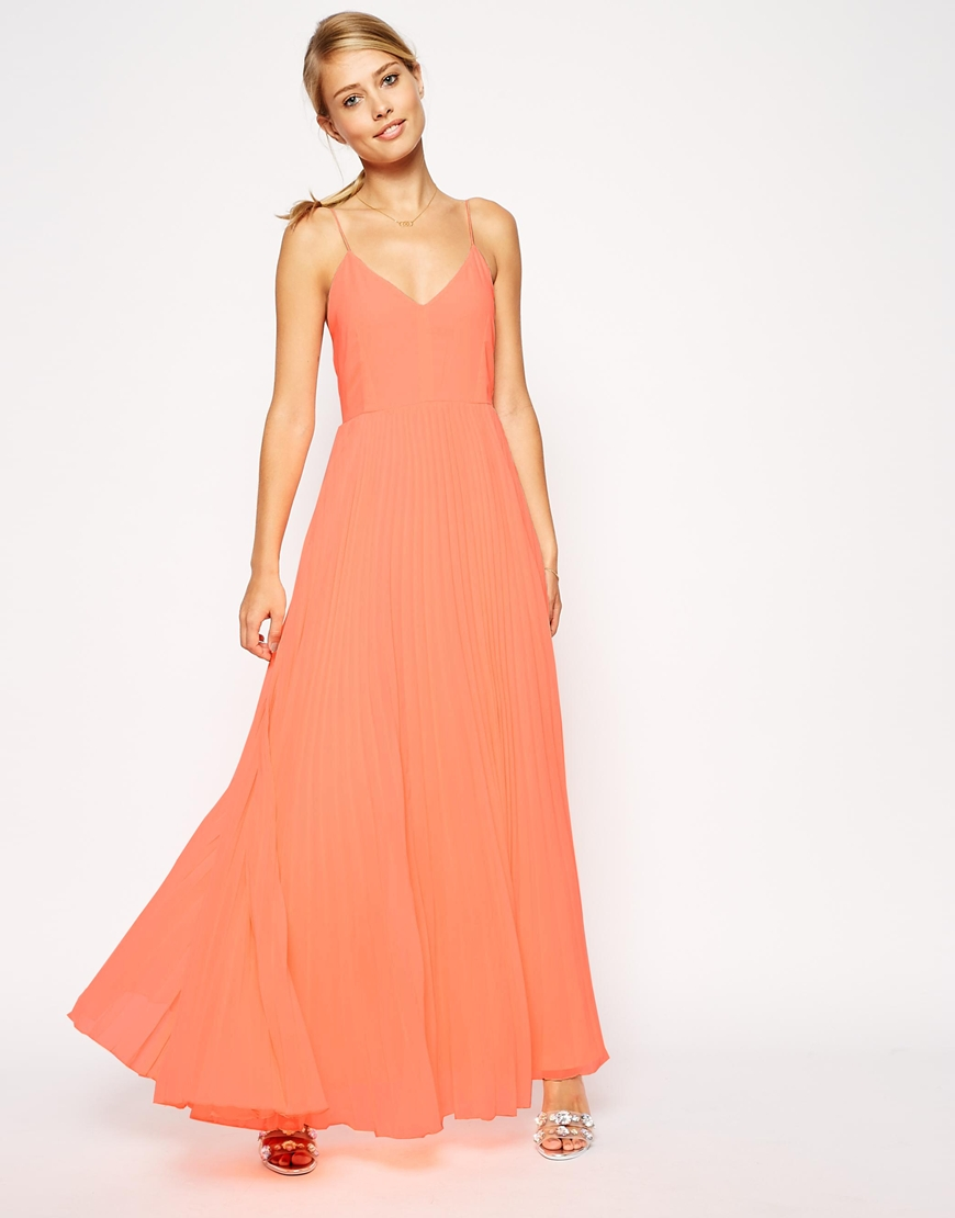 Robe mariage longue cocktail mousseline orange saumon fine for Robes longues de mariage