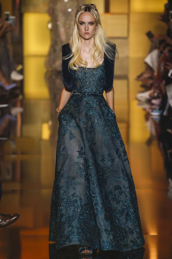 belle robe longue defile elie saab 2015 2016