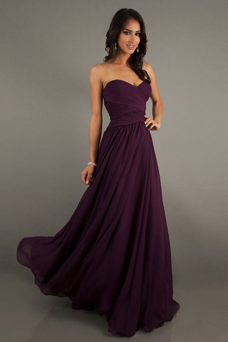 Robe cocktail bustier violette