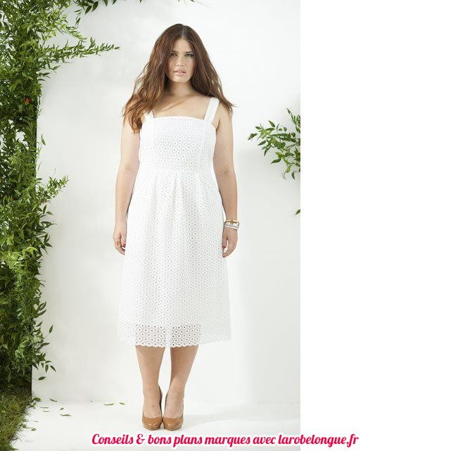 Robe blanc broderie anglaise femme