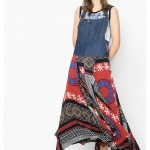 Robe faustino collection ete 2016 a bretelles effet patchwork