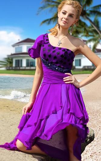 Robe courte devant longue derriere comme violetta
