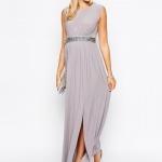 belle robe de grossesse habillee longue violet pastel