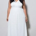 belle robe longue blanche grande taille dentelle mariage