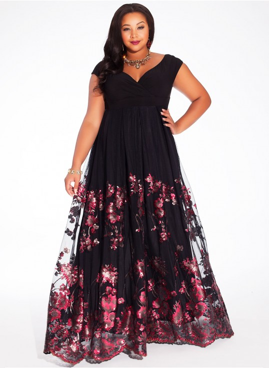 belle robe longue hippie grande taille