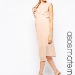 jolie robe mi longue femme enceinte rose pale