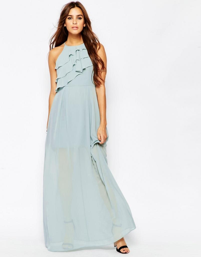 longue robe ete fluide bleu pastel mariage