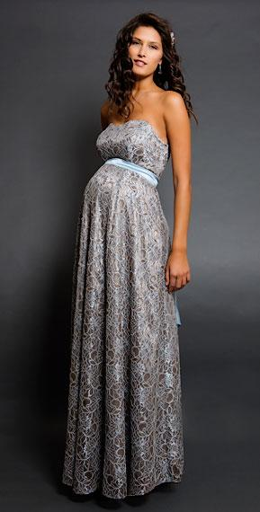 magnifique robe longue grossesse bustier pour mariage