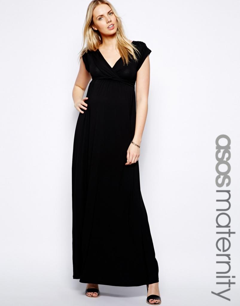 maxi robe longue femme enceinte habillee noire