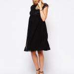 petite robe noire de grossesse habillee mi longue