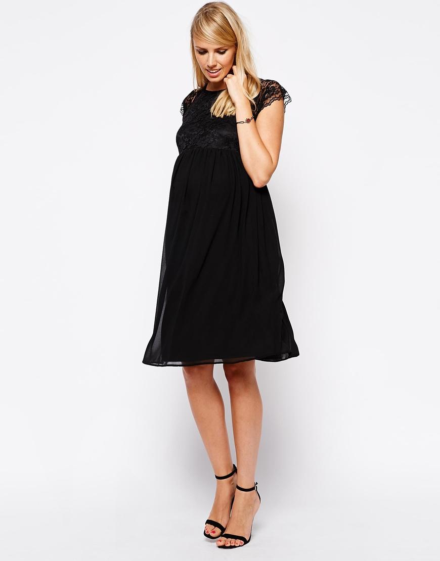 petite robe noire de grossesse habillee mi longue la robe longue. Black Bedroom Furniture Sets. Home Design Ideas