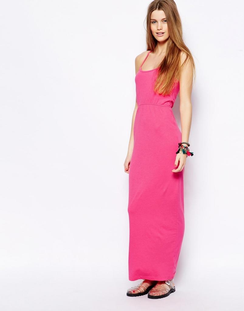 robe ado longue ete rose cintree a la taille