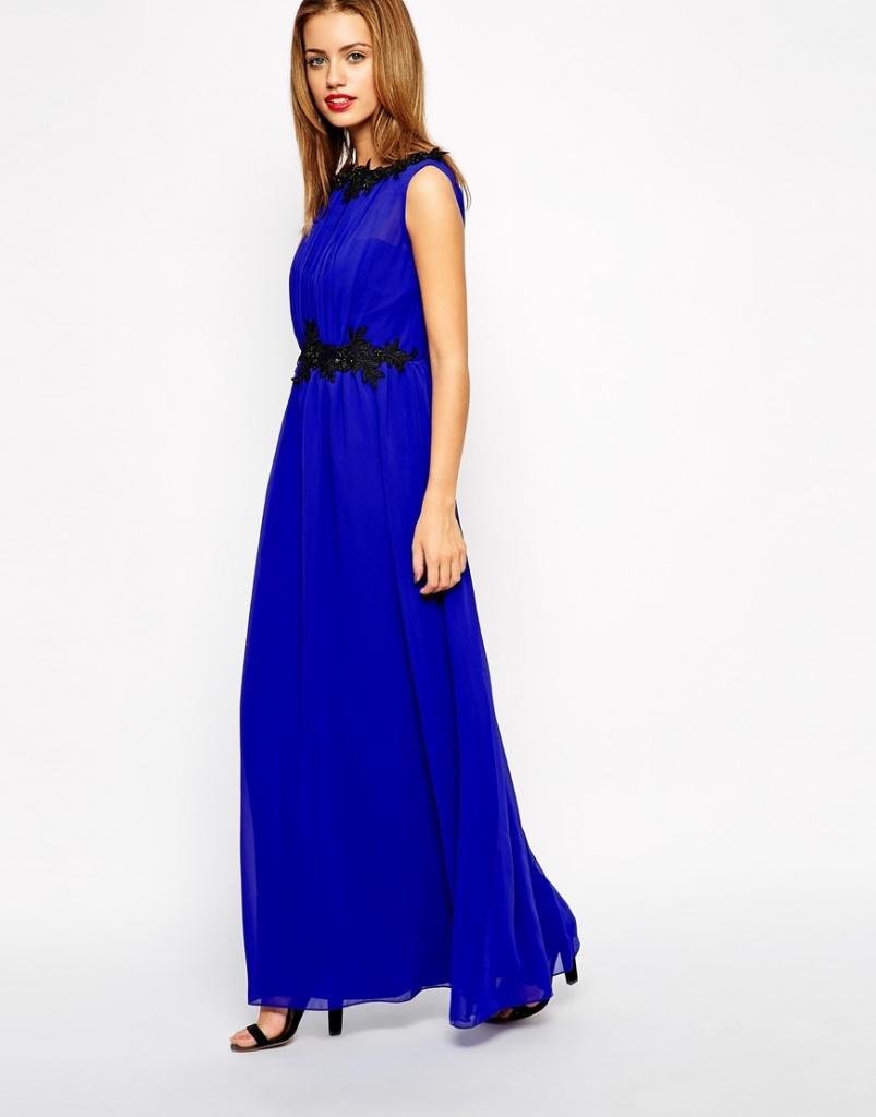 robe bleu electrique habillee longue grossesse