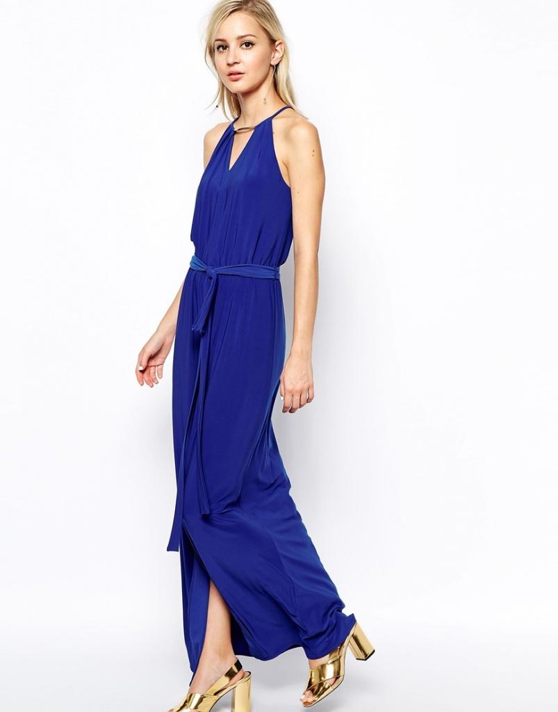 robe bleu fonce longue cocktail pour mariage
