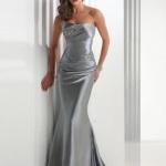 robe cokctail mariage grise bustier et moulante facon fourreau