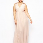 robe creme fluide longue cocktail grande taille