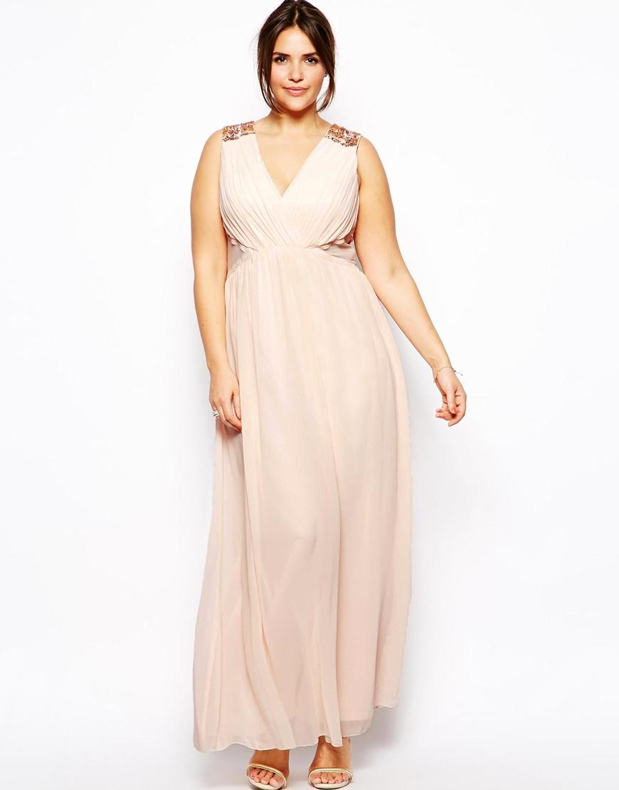 cbec8cecd8fcd robe creme fluide longue cocktail grande taille - la robe longue