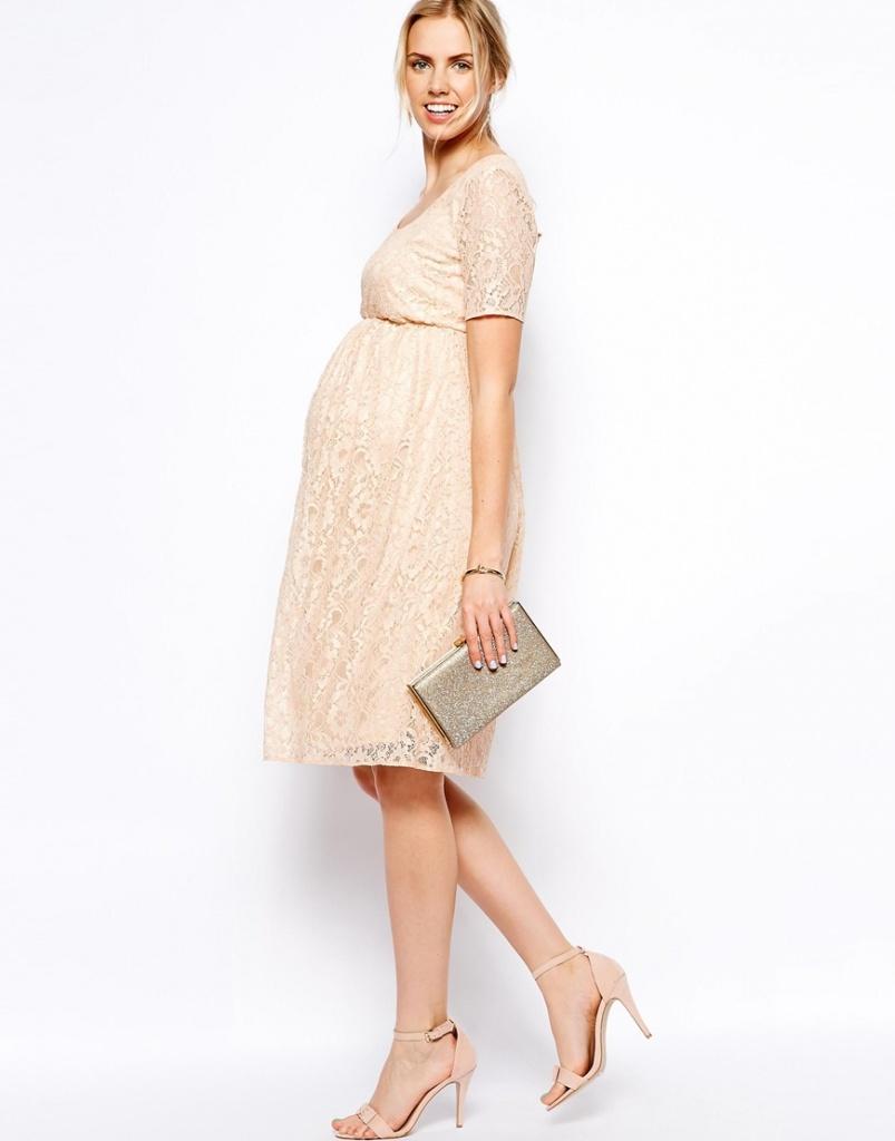 robe de grossesse habillee mi longue ecru