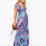 robe de grossesse longue bel imprime original