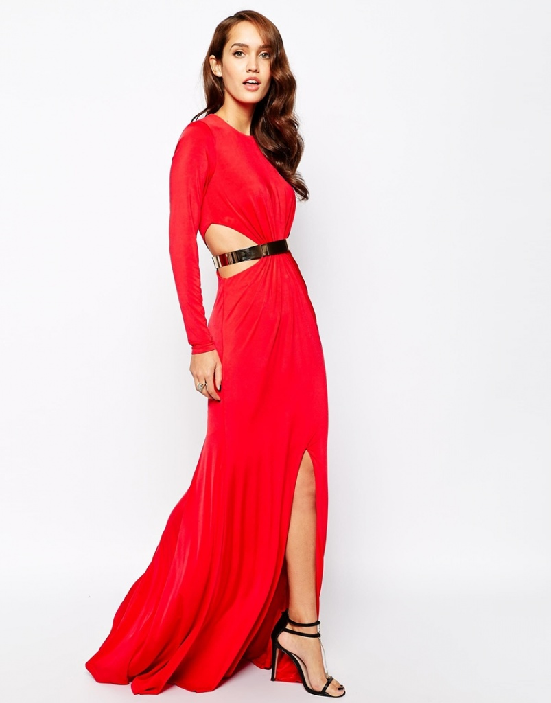 robe de soiree longue cocktail rouge