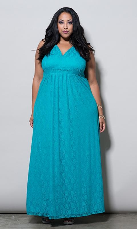robe ete bleu dentelle longue grande taille 58