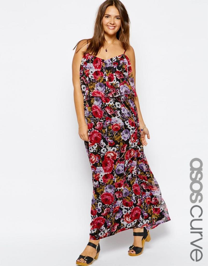 robe ete longue grande taille bretelles fines imprime floral