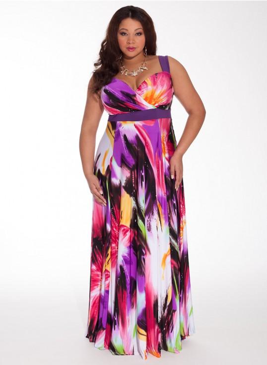 robe ete longue grande taille imprimee