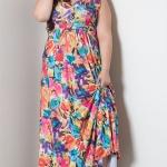 robe ete longue grande taille quinceanera fleurie