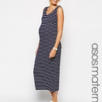 robe ete longue maternite rayee sans manche