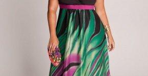 belle robe bicolore longue grande taille