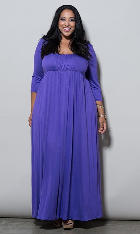 robe habille violette longue grande taille grande occasion