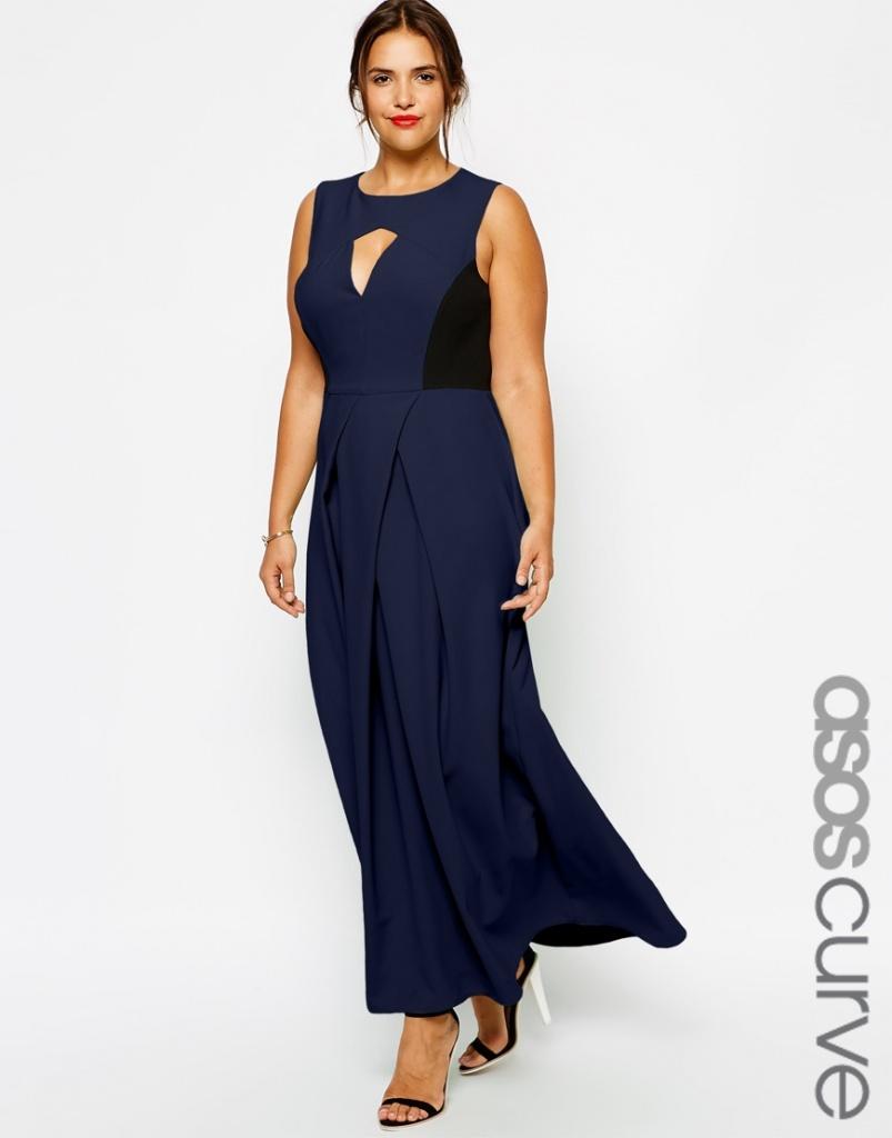 robe habillee bleu nuit longue grande taille quebec sans manche