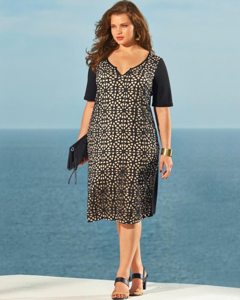 robe longue automne grande taille bicolore imprime et manches courtes unies noires