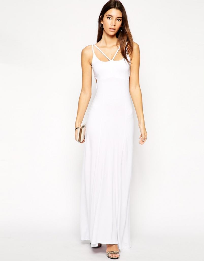 22d31153d3ed robe longue cocktail blanche ado pour mariage - la robe longue