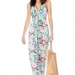 robe longue ete a fleurs cintree