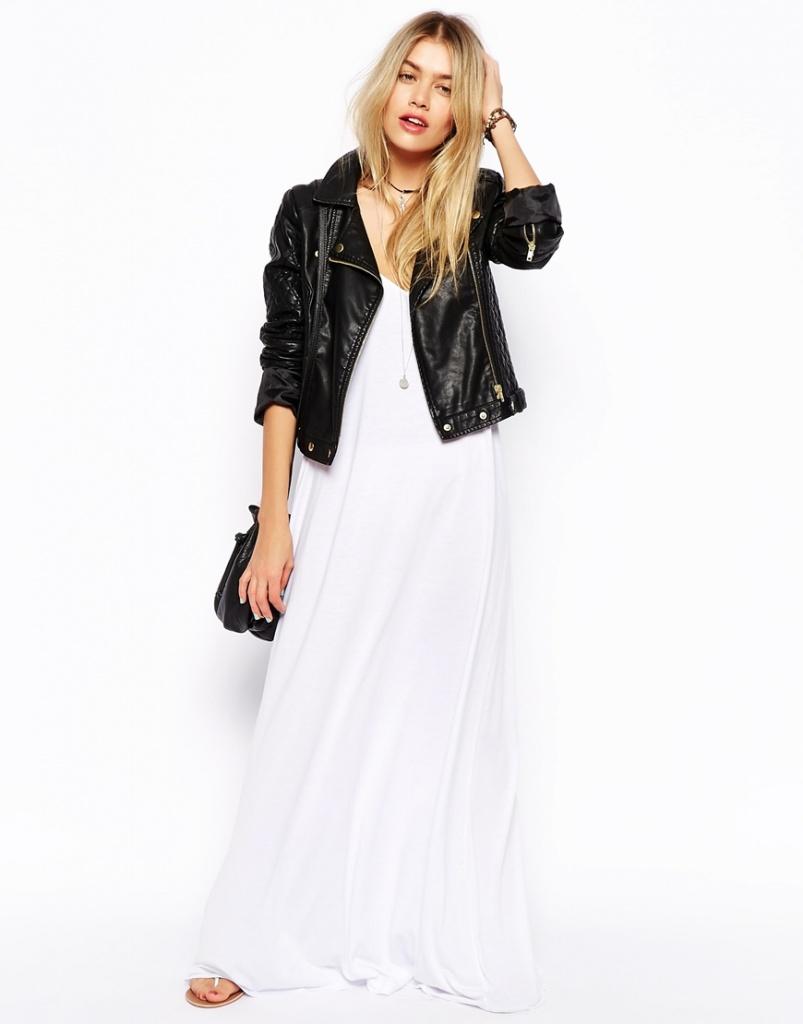 robe longue ete blanche avec veste