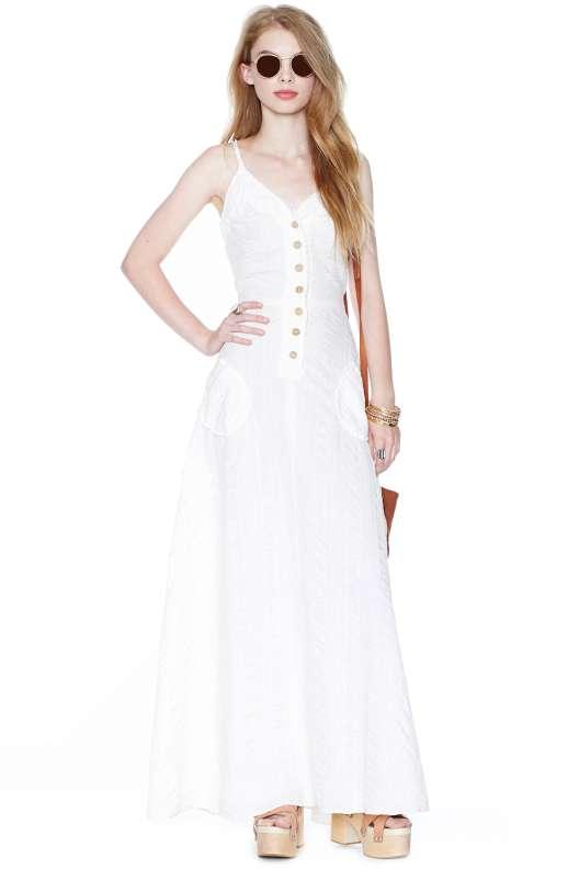 robe longue ete blanche boutonnee devant