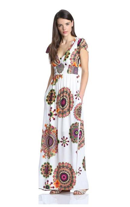 8c9a276c78ab robe longue ete desigual manche courte - la robe longue