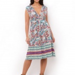 robe longue ete grande taille pas cher imprime original manche courte