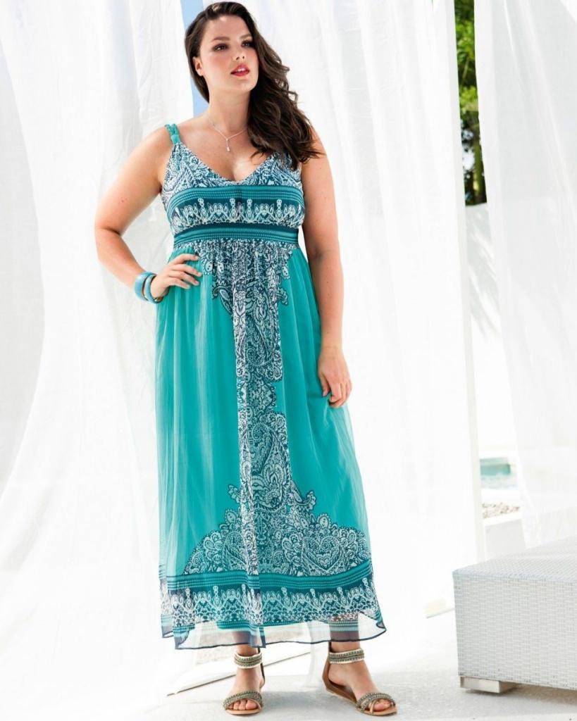 robe longue ete grande taille pas cher voile bleu