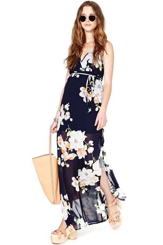 robe longue ete hippie chic a fleurs