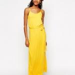 robe longue ete jaune petite ceinture