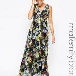 robe longue femme enceinte fluide et fleurie