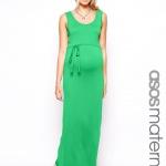 robe longue femme enceinte verte debardeur et ceinture fine