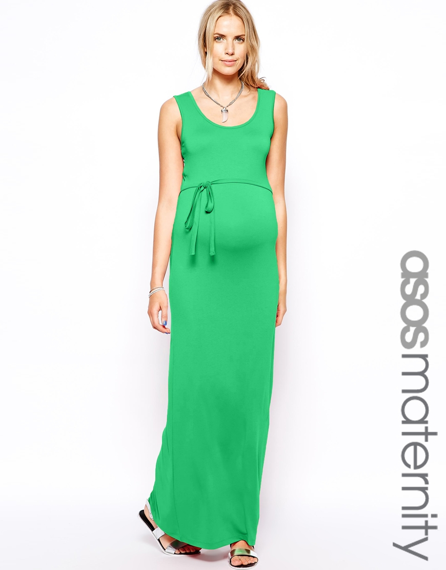 robe longue femme enceinte verte debardeur et ceinture. Black Bedroom Furniture Sets. Home Design Ideas