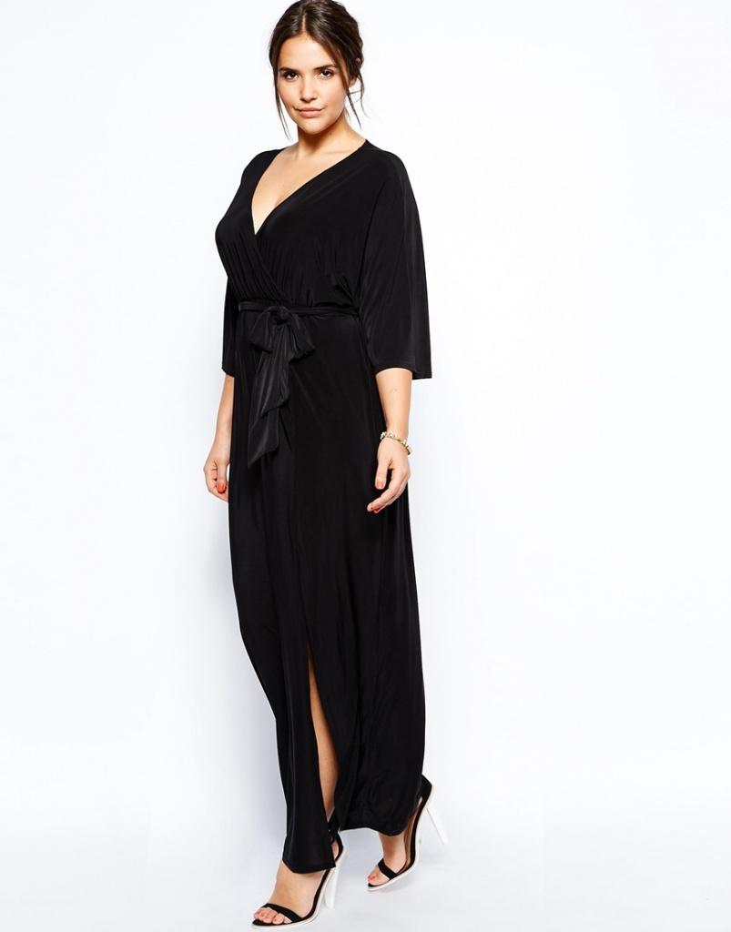 robe longue grande taille 48 manche longue fluide