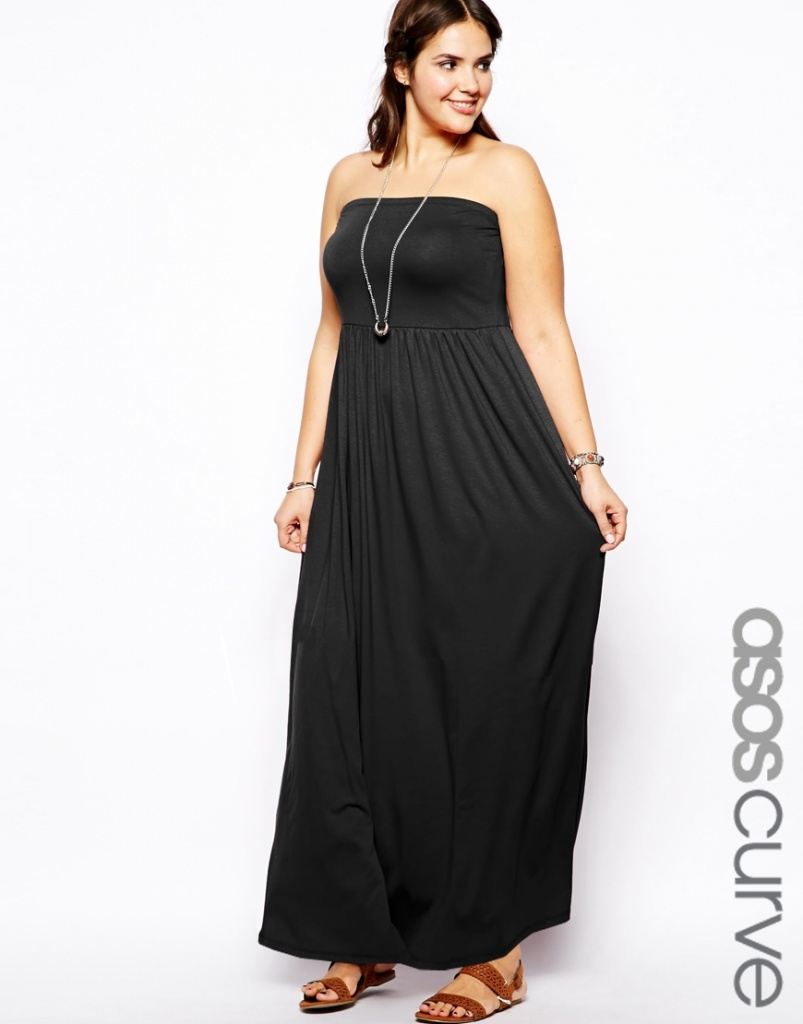 robe longue grande taille asos curve bustier taille 52